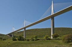 桥梁millau 库存图片