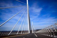 桥梁millau 免版税库存图片