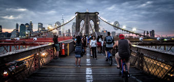 桥梁ny的布鲁克林 图库摄影