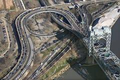 桥梁nyc triborough 库存图片