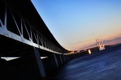 桥梁oresund瑞典 库存图片