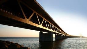 桥梁oresund瑞典 影视素材