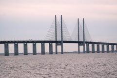 桥梁oresund 免版税库存图片