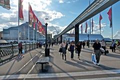 桥梁pyrmont悉尼 免版税图库摄影