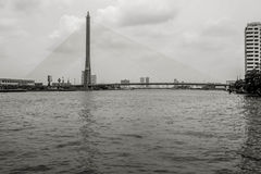 桥梁Rama IX 免版税库存图片