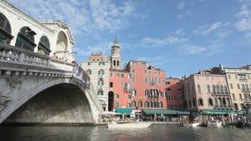 桥梁rialto威尼斯 股票视频