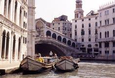 桥梁riato威尼斯 库存照片