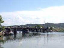 桥梁Riva 库存图片