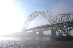 桥梁runcorn 免版税图库摄影
