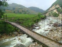 桥梁SAPA北越南 库存照片
