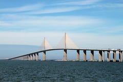 桥梁skyway阳光 免版税库存照片