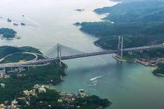 桥梁tsing的香港ma 免版税图库摄影