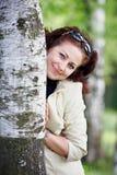桦树妇女 库存照片