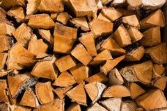 桦树火木头 免版税库存图片