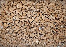 桦树柴堆 库存图片