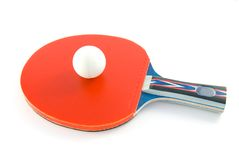 桨乒乓球 免版税库存照片