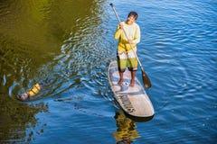 桨搭乘 免版税图库摄影