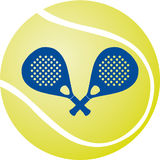 桨网球 免版税库存图片