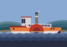 桨通入蒸汽的轮子 免版税库存图片