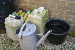 桶和容器 免版税库存照片