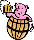 桶啤酒猪猪肉 免版税库存图片
