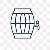桶在透明背景隔绝的传染媒介象,线性Ba 皇族释放例证