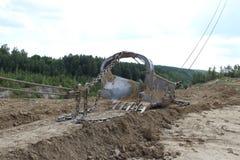 桶挖掘机 免版税库存图片