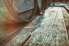 桶放入木桶内木头 图库摄影