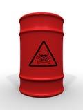 桶有毒废料 免版税库存照片