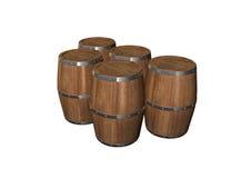 桶木头 免版税库存照片