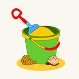 桶沙子 库存照片