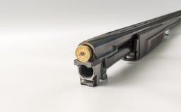 桶猎枪装载了12口径 免版税库存图片