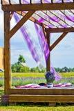 桶用淡紫色 库存图片