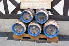 桶由饮料的木头制成 库存图片