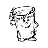 桶的风格化图象用水 免版税库存照片