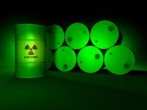 桶绿色放射性 库存照片