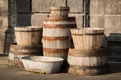 桶老木头 免版税库存照片