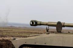 桶自走火炮、大口径,乌克兰和Donbass冲突 免版税图库摄影