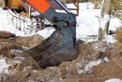 桶水力挖掘机 免版税图库摄影