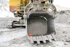 桶10米的挖掘机容量立方体 库存图片