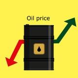 桶黑色例证油红色向量白色 向量例证