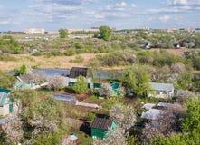 梁赞市郊外  中央俄国 免版税图库摄影