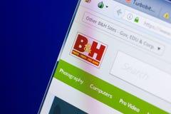 梁赞,俄罗斯- 2018年5月08日:个人计算机, URL - BHPhotovideo显示的BHPhotovideo网站  com 免版税库存照片