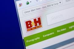 梁赞,俄罗斯- 2018年5月08日:个人计算机, URL - BHPhotovideo显示的BHPhotovideo网站  com 免版税库存图片