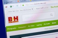 梁赞,俄罗斯- 2018年5月08日:个人计算机, URL - BHPhotovideo显示的BHPhotovideo网站  com 库存照片