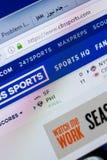 梁赞,俄罗斯- 2018年5月08日:个人计算机, URL - CBSsports显示的CBSsports网站  com 图库摄影