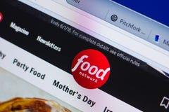 梁赞,俄罗斯- 2018年5月13日:个人计算机, URL - FoodNetwork显示的FoodNetwork网站  com 库存图片