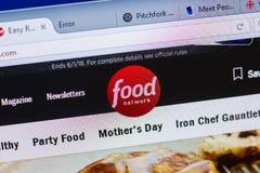 梁赞,俄罗斯- 2018年5月13日:个人计算机, URL - FoodNetwork显示的FoodNetwork网站  com 免版税库存图片