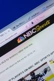 梁赞,俄罗斯- 2018年5月13日:个人计算机, URL - NBCSports显示的NBCSports网站  com 库存照片