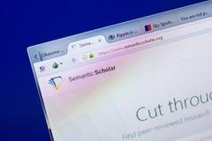 梁赞,俄罗斯- 2018年5月08日:个人计算机, URL - Semanticscholar显示的语义学者网站  org 库存图片